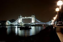 Londyn, zabytki, architektura, London, most, zdjecia nocne Londynu, Tamiza, Tower Bridge - Tower Bridge noc�